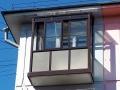Балкон с прозрачной крышей