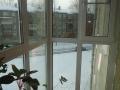 Теплый балкон из ПВХ с распашными створками