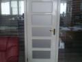 Алюминиевая офисная перегородка с деревянной дверью