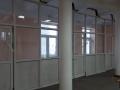 Перегородка из алюминиевого профиля с маятниковыми дверями - Геологоразведочный техникум г.Иркутск